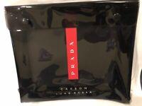 Prada Carbon Luna Rossa Travel Pouch Black Brand New