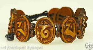 Bracelet Women's Jewelry Brown Wrist Jewellery Unique Mantra s49