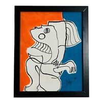 """PAINTING ACRYLIC ON CANVAS PANEL (FRAME INCLUDED) CUBAN ART  8""""X10"""" By LISA."""
