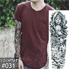 New listing New 1 Piece Temporary Tattoo Sticker Fox Rabbit Full Flower Tattoo with Arm Body