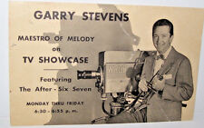 Gary Stevens Maestro of Melody WRGB TV Showcase Post Card With Signature
