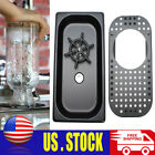 Black Stainless Glass Rinser Coffee Cup Cleaner Bar Beer Washer Kitchen Sink