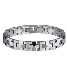 "Our #1 Selling Men's Tungsten Carbide Shiny Polished Bracelet  - NEW - ""PYRAMID"""