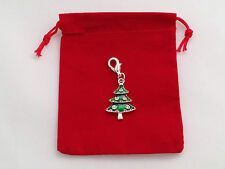 Christmas Tree Clip on Charm with Red Gift Bag by Libby's Market Place -FREE P&P