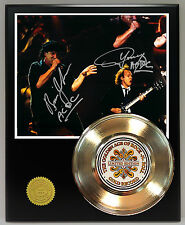 AC/DC GOLD 45 RECORD SIGNATURE SERIES LTD EDITION DISPLAY FREE U.S. SHIPPING