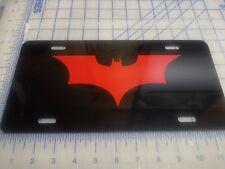 Batman Dark night car tag/ license plate (red)