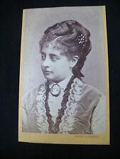 PHOTO CDV CARD ANCIENNE OPERA SINGER PAULINE LUCCA CANTATRICE 1875 AUSTRALIA