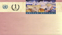UNITED NATIONS 1999 32c + 1c PRE PAID ENVELOPE SMALL MINT / UNUSED NEW YORK