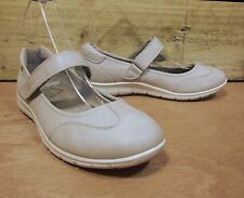 ECCO Leather Flat Comfort Sandals/Shoes Light Grey/Shadow White 2.5/3UK 35EU