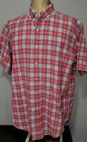 Polo Ralph Lauren Mens Indian Madras Button Front Plaid Shirt Large BLAKE FIT