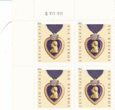 Block of 4, 1911 Purple Heart Stamps # 4529