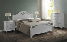 Landhaus letto in legno, letto matrimoniale, 160x200cm LETTO MATRIMONIALE ♥ SHABBY CHIC rete a doghe incl.