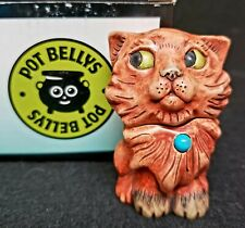 "Harmony Kingdom Pot Bellys ""Turquoise"" Calendar Cats December Birthstone Mib"