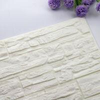 White Brick PE Foam 60cm x 30cm 3D Wall Sticker Home DIY Wallpaper Panels Room