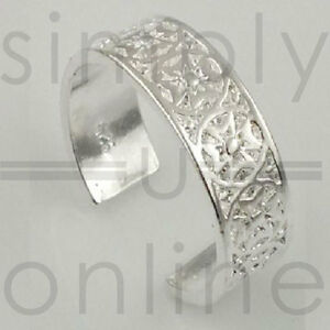 925 Sterling Silver Plated Toe Ring - Maltese Cross