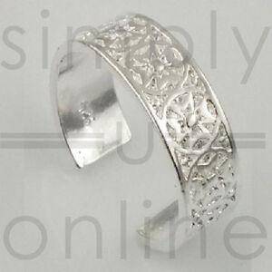 925 Sterling Silver Plated Toe Ring - Maltese Cross