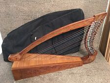 Used Deluxe 22 String Celtic Harp - Rosewood Irish Harp w/ Bag