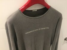UNDERCOLORS OF BENETTON Grey Long-sleeve Casual/Pyjama T-Shirt - Mens Size Small