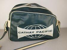 Vintage CATHAY PACIFIC AIRWAYS Travel Bag Mid Century Airline Pilot/Stewardess