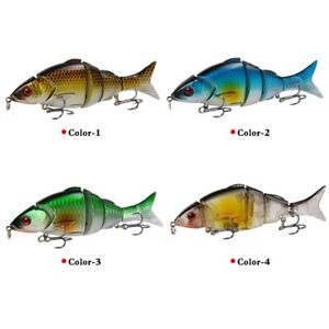 Multi-section Ice Fishing Lure Bass Hard Lure Artificial Bait Fishing Tackle 1PC