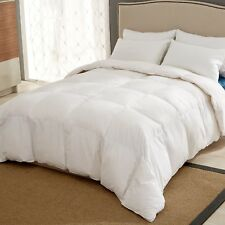 Puredown White Goose Down Ultra Feather Comforter Full Queen Size 90 x 90""