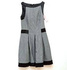 Lipsy Kleid, Tweed, Gr. 34, 36, XS, S; UK size 8, schwarz, grau, Skater