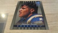 "1997 Donruss Studio NFL 8 x 10"" FB #20 Junior Seau - San Diego Chargers - SILVER"