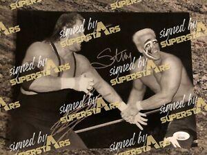 Undertaker vs Sting EXCLUSIVE dual signed JSA COA pic proof autograph 8X10 WWE
