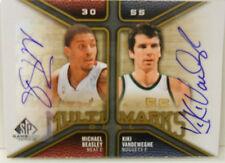 2009-10 SP Game Used Ed Michael Beasley & Kiki Vandeweghe Dual Autograph