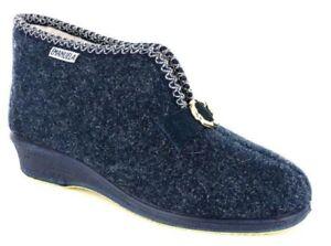 EMANUELA Hausschuhe Hizammohemed Komfortabel Blau Schuhe Tuch Frau Art. 508