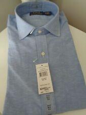 BNWT Ralph Lauren Blue Custom Regent Cotton Linen Shirt size 15.5