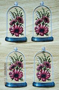 New: 8 x Tattered Lace : Bell Jar & Flowers Die Cuts
