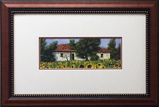 "Guido Borelli ""Tuscan Summer I"" CUSTOM FRAMED Hand Signed Lithograph Sunflower"