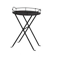WMG Tabletttisch Beistelltisch Tisch  Eisen Bologna klappbar schwarzbraun NEU
