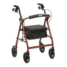Folding Ultra Lightweight Rollator Wheeled Walking Frame 4 Wheel Mobility Walker Red R6 R6rd-23 Inc VAT