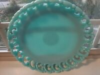 Rare! Vintage Fenton GORGEOUS Reticulated Blue Milk Opaline Bowl,VERY RARE!!!!!!