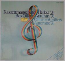 Kassettenangebote Herbst '76 [DGG 2810 059 - 21]