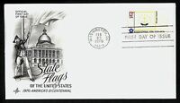 #1645 13c Rhode Island, Art Craft-Bicentennial FDC **ANY 4=FREE SHIPPING**