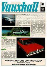 VAUXHALL RANGE 1971 BROCHURE. 10.70 (DUTCH)
