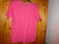 Pretty rose pink sheer lightweight knit short sleeve top, ATMOSPHERE, size 8 NEW