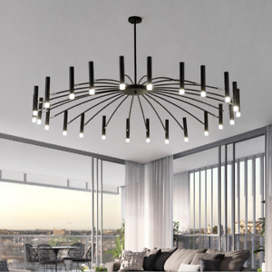 12/15/18/24 Heads Branch Chandelier Metal Pendant Lighting Nordic Ceiling Light