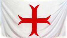 LARP 1,5m x 0,9m  #341 Neu Fahne Flagge Tempelritter Kreuzritter Mittelalter
