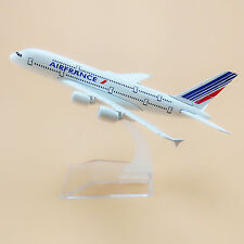 16cm Airplane Model Plane Air France Airlines Airbus 380 A380 Aircraft Model Toy