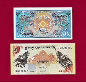 UNC Low Shipping Bhutan 5 Ngultrum P 14a Signature 1 Combine FREE ND 1985 14