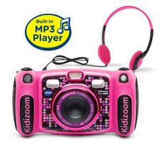 VTech Kidizoom DUO 5.0 Deluxe Digital Selfie Camera, MP3 Player, Headphones-Pink