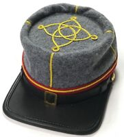 CIVIL WAR CONFEDERATE CSA LIEUTENANT ARTILLERY OFFICER KEPI CAP HAT-MEDIUM