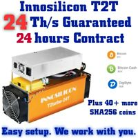 !!! NEW - 24 Th/s Innosilicon T2T 24 Hours Contract for BTC & any SHA256 coin