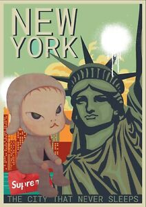 "45x32cm Death NYC Ltd Ed LARGE Signed Graffiti Pop Art Print ""Ac3"""