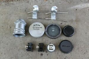 Vintage Camera Pieces ~ Mixed Lot of Lens Caps Extension Clamps etc