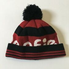 Penfield Bobble Hat Red Black Beanie Winter Ski